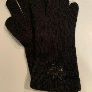 Disney Mickey Black Knit Winter Gloves